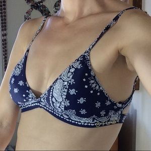 Stussy Blue Bandana Swim Top